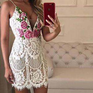 NEW Custom Wedding Rose Lace Summer Dress White
